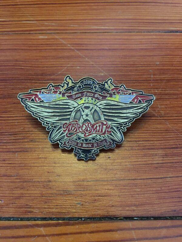 Aerosmith 2009 Aero Force One Official Member Club Pin Badge Steven Tyler