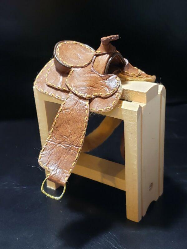 Traditional CM OOAK/LSQ Breyer Model Western Saddle Medium Brown