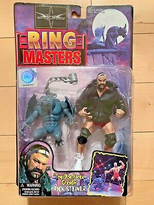 VINTAGE 1999 Rick Steiner Figure WCW Ring Masters Toy Biz WWF WWE Mint on Card