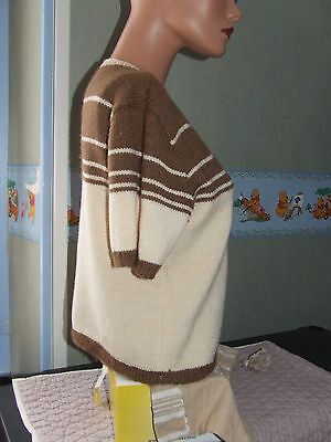 Superbe pull  tricoté main phildar  laine mohair  taille 38 / 40