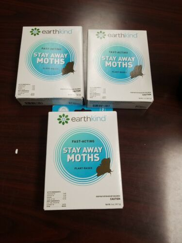 3-Earth Kind Fast Acting Stay Away Moths Plant Based Two Scent Pouches B265 - $28.99