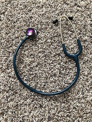 3m Littmann Classic Ii Se Stethoscope Rainbow-finish Caribbean Blue Tube 27 Inch