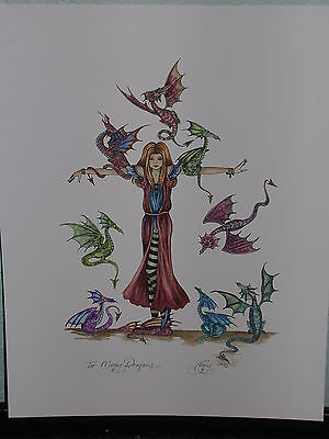 Amy Brown - Too Many Dragons - OUT OF PRINT - RARE