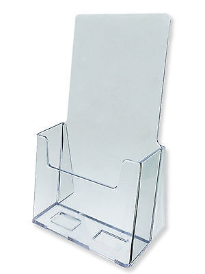 Acrylic Literature Brochure Holder For 4x9 - Lot Of 20