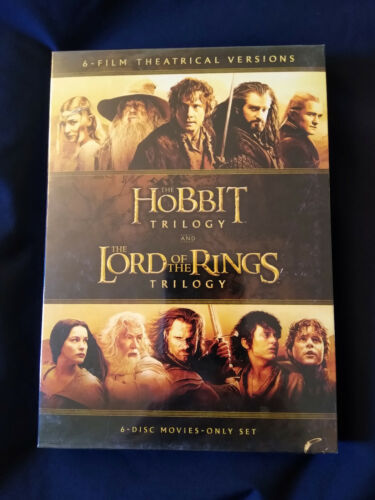 The Hobbit Trilogy + The Lord of the Rings Trilogy 6-Film Theatrical Films DVD!