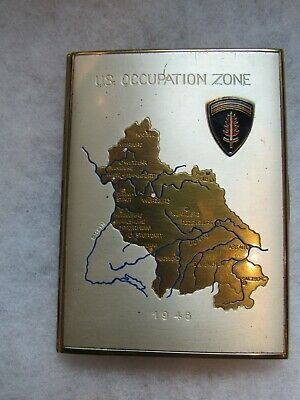 WWII US SHAEF 1946 early occupation zone cigarette case