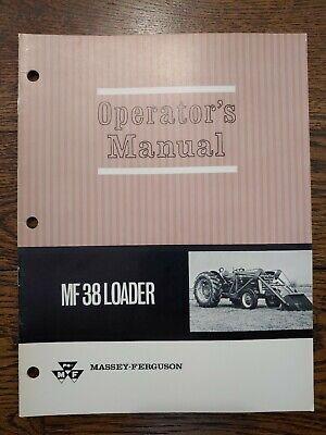 Massey Ferguson Mf 38 Loader Operators Owners Manual Mf 25 38 50 60 135 150 165