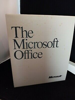 """Vintage 1990-91 """"The Microsoft Office"""" Version 3.0 in Retail Box w/ 5 floppy's"""