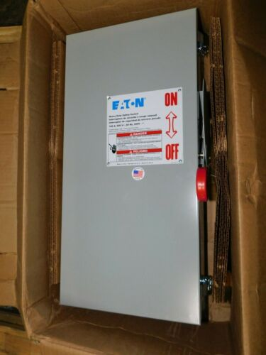 NEW Eaton DH363UDK 100 Amp 600 volt Non Fused NEMA 12 Disconnect Safety Switch