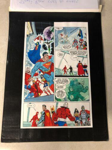 JLA #21 ART Color Guide 10 heroes superman wonder woman plastic man orion flash