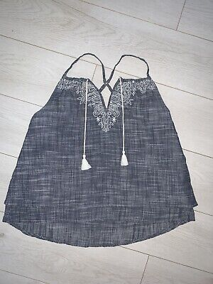 Women's Abercrombie & Fitch Navy Strappy Top Size S