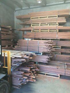 Old growth jarrah timber flooring floorboards