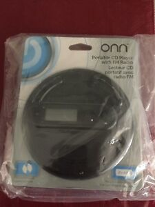 ONN portable CD player with FM radio