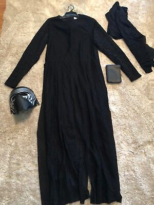 NEW mens ladies DELUXE KYLO REN HALLOWEEN 3 pc COSTUME mask STAR WARS SIZE SMALL](Size Small Mens Halloween Costumes)