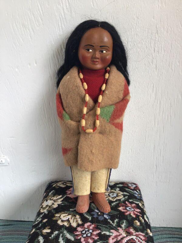 Vintage Skookum Bully Good Doll, Native American Indian Girl