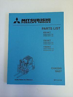 Mitsubshi Forklift Parts Manual Fb16kt Fb18kt Fb20kt