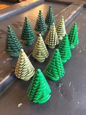 Compatible with LEGO Trees 4x Small Olive Green Pine Christmas Tree NEW