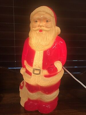 Vintage Empire (?) Plastic Lighted SANTA CLAUS Christmas Blow Mold-13""