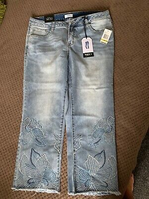 New With Tavs Kensie Jeans Straght Crop Size 14/32