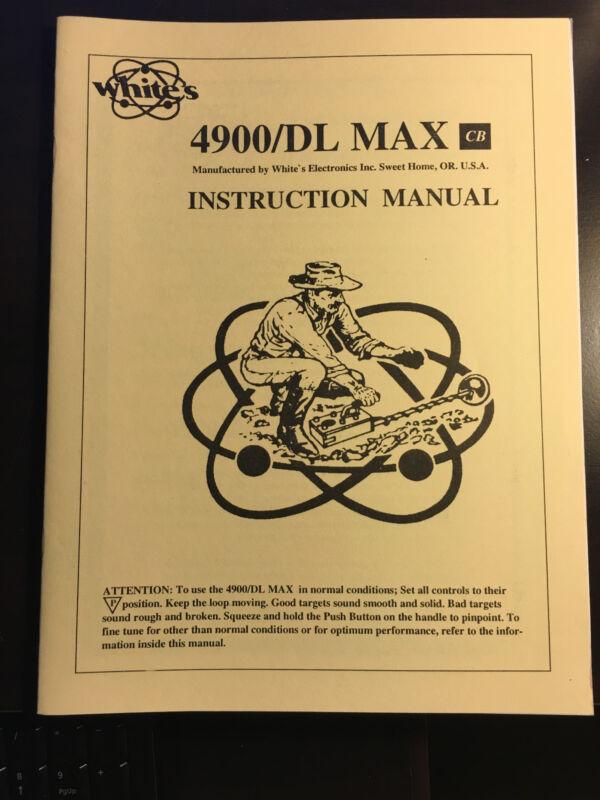 Operators Manual For Whites4900/DL Max Metal Detector