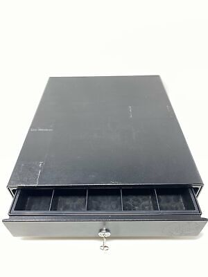 Apg Vp452-bl1416 Retail Cash Drawer With Key Till Tray