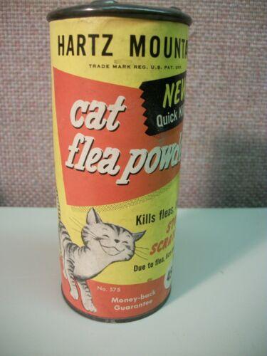 Vintage Hartz Mountain Cat Flea Powder 2 oz. container