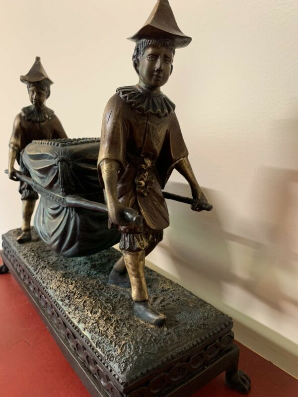 Antique Asian Decorator Bronze Sculpture Mint Condition Rare Large Very Heavy