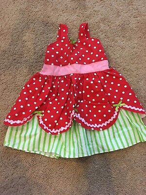 Handmade Strawberry Shortcake Halloween Costume 18/24 Months EUC Toddler Girl - Strawberry Halloween Costume