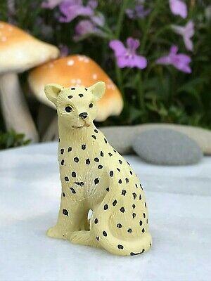 Miniature FAIRY GARDEN Terrarium Accessories ~ Mini SAFARI Animal CHEETAH - Mini Fairy Garden