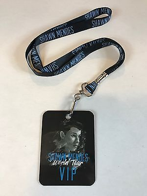 GENUINE SHAWN MENDES WORLD TOUR VIP PASS LAMINATE LANYARD COLLECTORS ITEM
