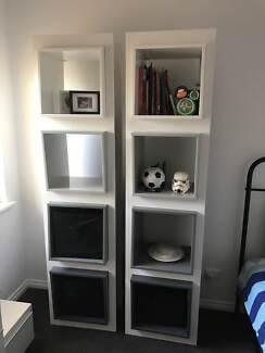 White Gloss Display Unit Bookcase 500x400x2000 Bookcases