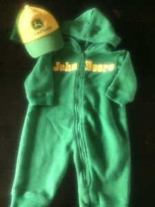 6-9 month John Deere outfit and hat