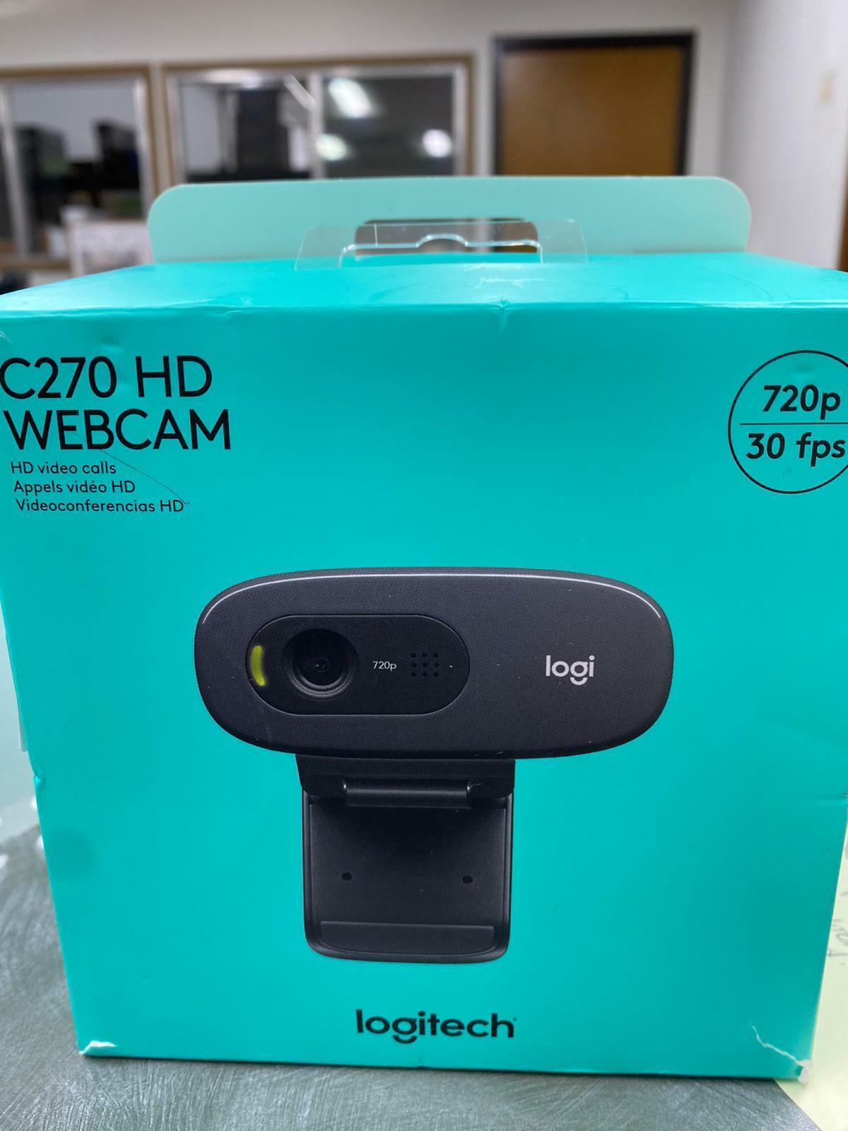 Logitech C270 (960-000694) HD Web Camera - Black