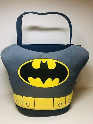 Easter Basket Halloween Costume (DC Batman with cape Halloween Costume Easter Plush Basket Bag Bucket Large)