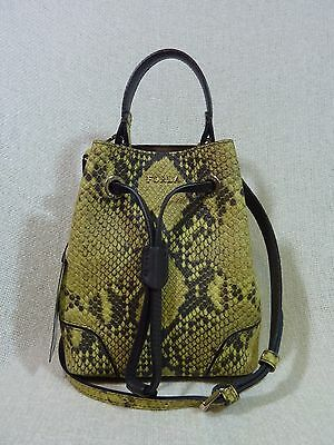 NWT FURLA Jade Python Embossed Leather Mini Stacey Crossbody/Tote Bag $328