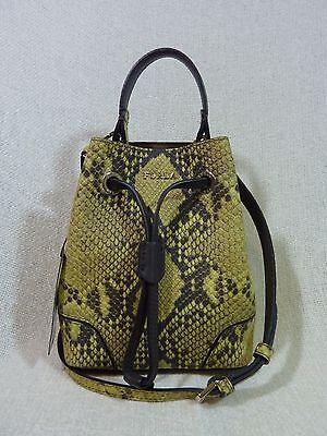 NWT FURLA Jade Python Embossed Leather Mini Stacey Crossbody/Tote Bag $328