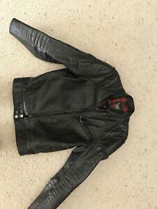 Ladies leather motorcycle jacket