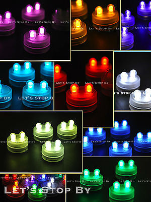 LED Bright Dual Floral Tea Submersible Light ...