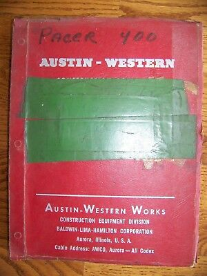 Parts Manual For Austin Western Pacer 400