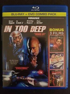 In Too Deep + Glass Shield, Malevolent, Rage in Harlem (Blu-ray/DVD, 2012) OOP