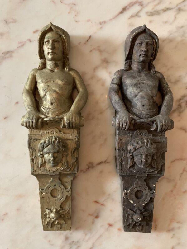 Antique/Vintage Corbels -Architectural Salvage - Pair