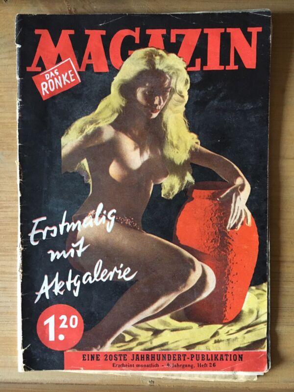 Das Ronke Magazin FKK- Pinup Akt-Fotos Erotik Ella Fitzgerald Zarah Leander 1952