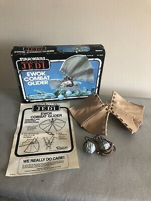 Star Wars Vintage ROTJ Ewok Combat Glider Boxed, Instructions