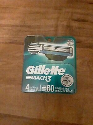 BEST PRICE-Gillette Mach 3 Razor Blades 4 Cartridges- BRAND