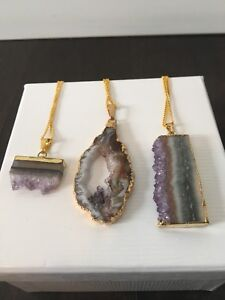 Amethyst Quartz pendants