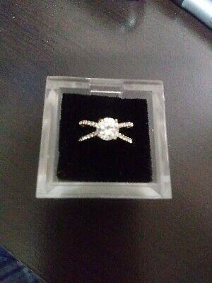 Womens Costume  Wedding Engagement Ring Jewelry Size 6 preowned - Costume Wedding Jewelry