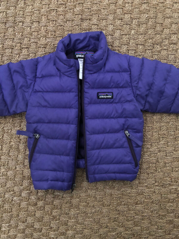 Patagonia Baby Girl Purple Puffer Down Jacket Size 6 Months