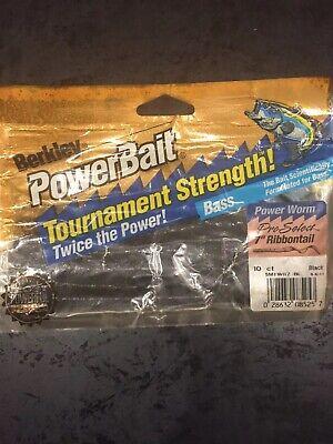 "Berkley 7"" Power Worm Pro Select Discontinued Formula 10pkg Black 10 Power Worm"