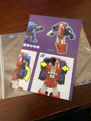 Transformers Mechfanstoys mechanic studio MS-16 Rocke Gears Instructions Gun
