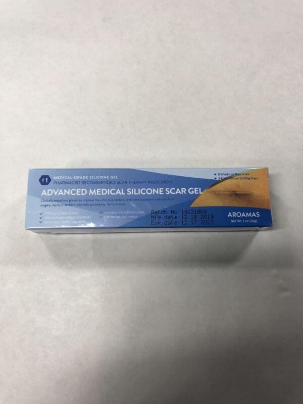Aroamas Advanced Scar Gel Medical-Grade Silicone for Face, Body, Stretch Marks,